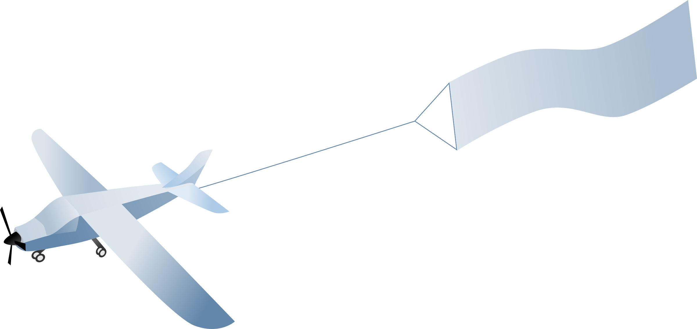 Clipart plane banner. Airplane with big image