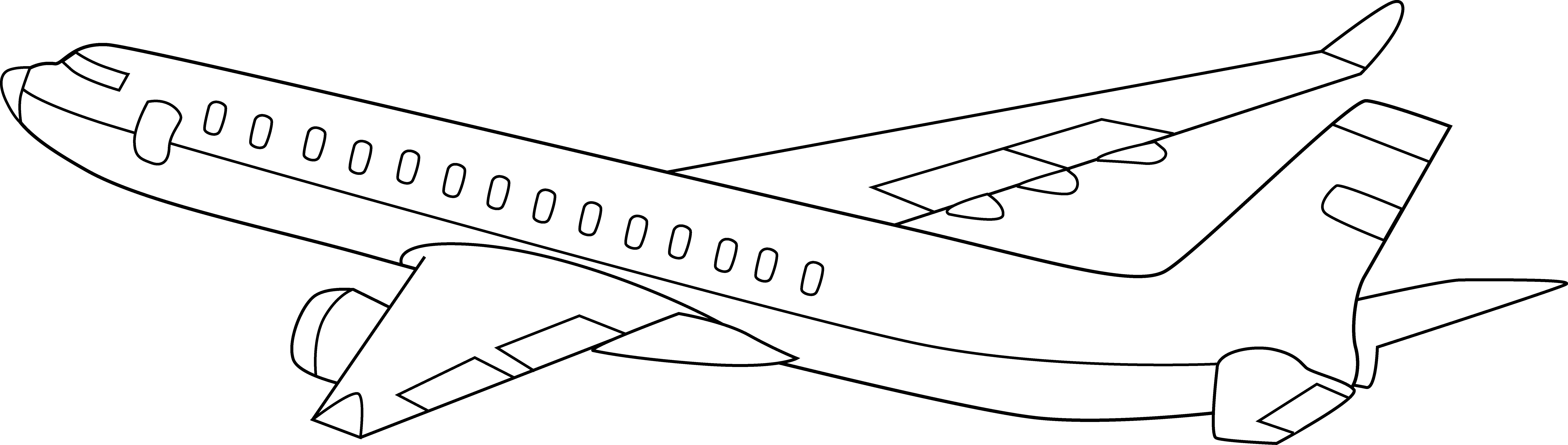 Airplane black and white. Jet clipart powerpoint