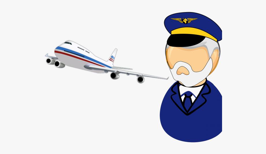 Pilot clipart aeroplane pilot. Plane captain airplane clip