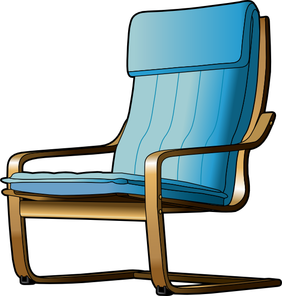 Furniture clipart empty library. Armchair clip art at