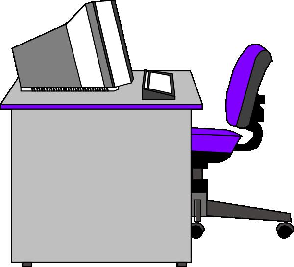 Office at clker com. Clipart desk clip art