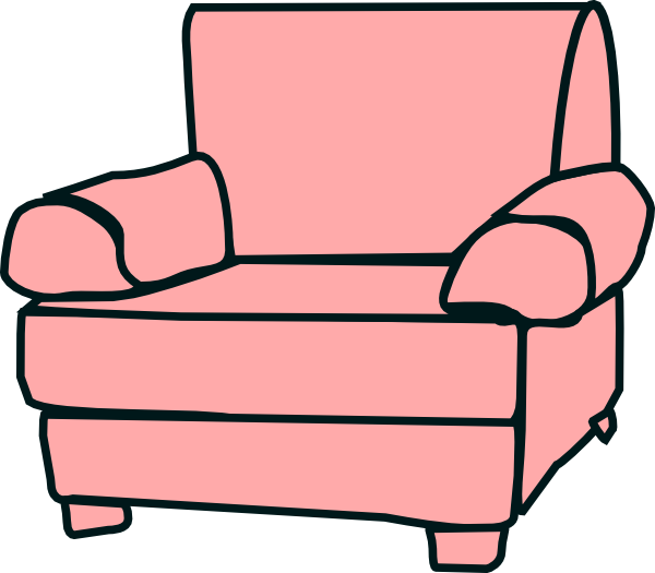Furniture clipart comfy chair. Clip art at clker