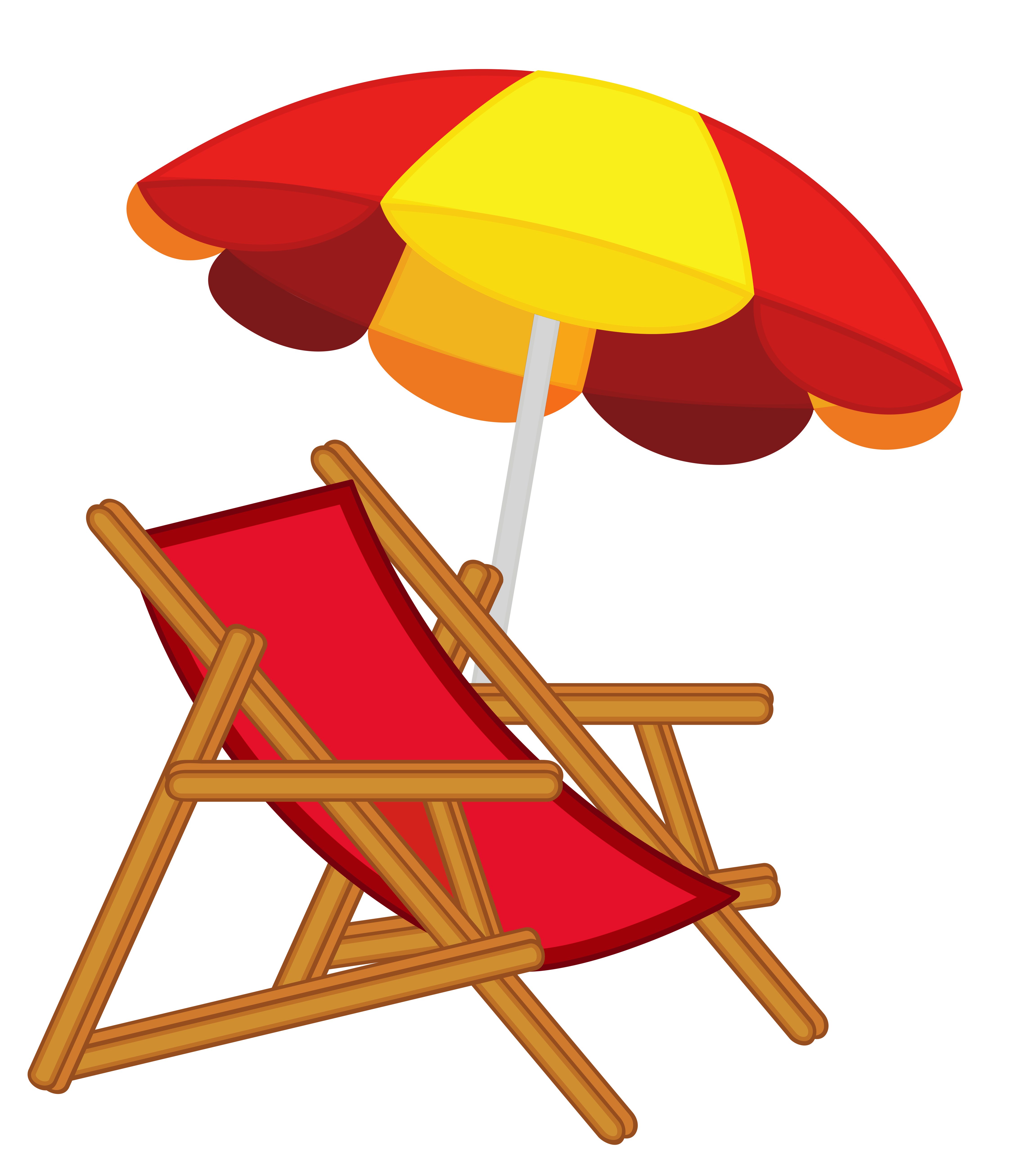 Vacation chair pencil and. Clipart free beach