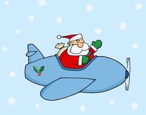 Santa clipart airplane. Free christmas cliparts download