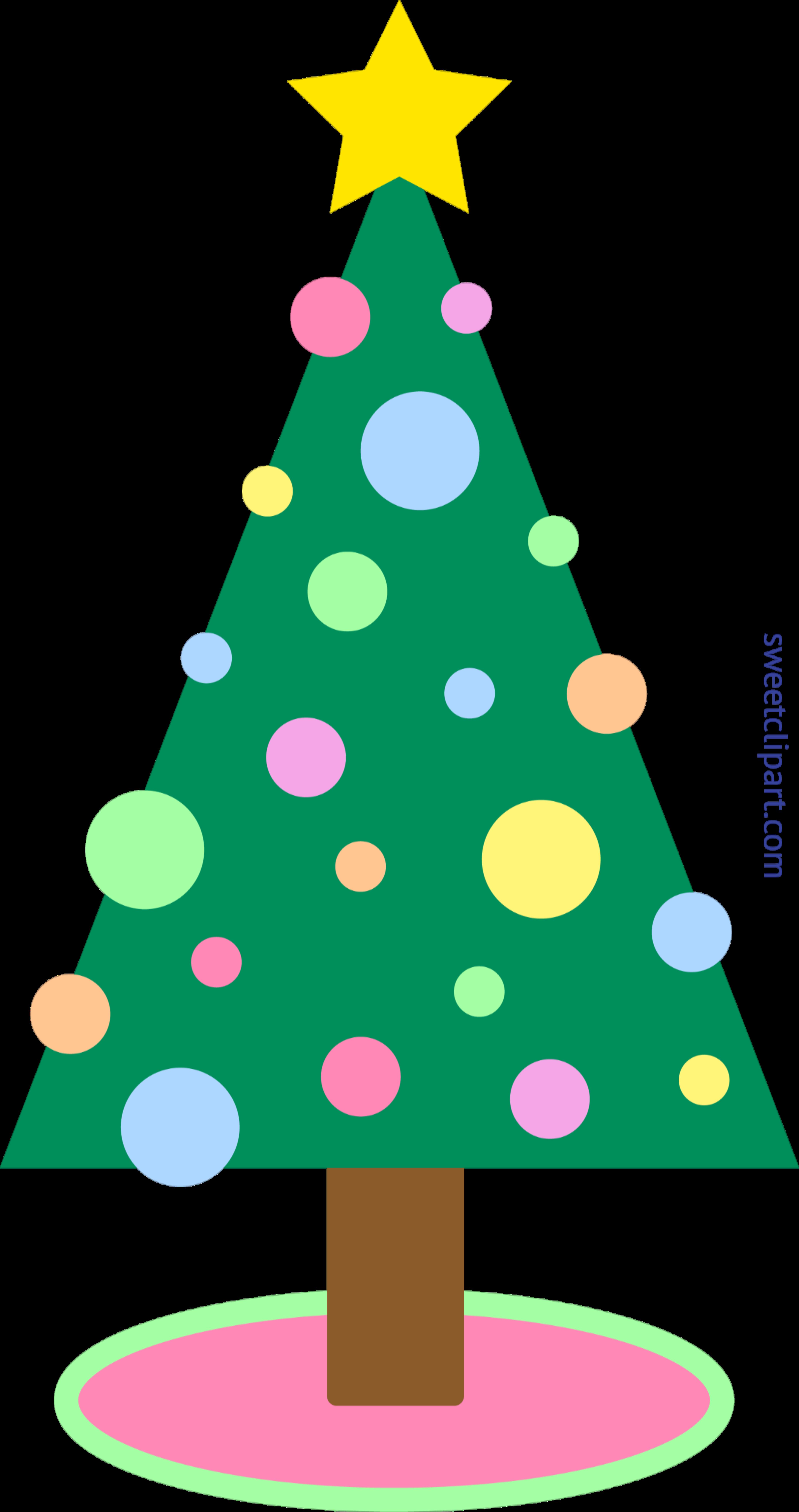 Pastel clip art sweet. Clipart music christmas tree