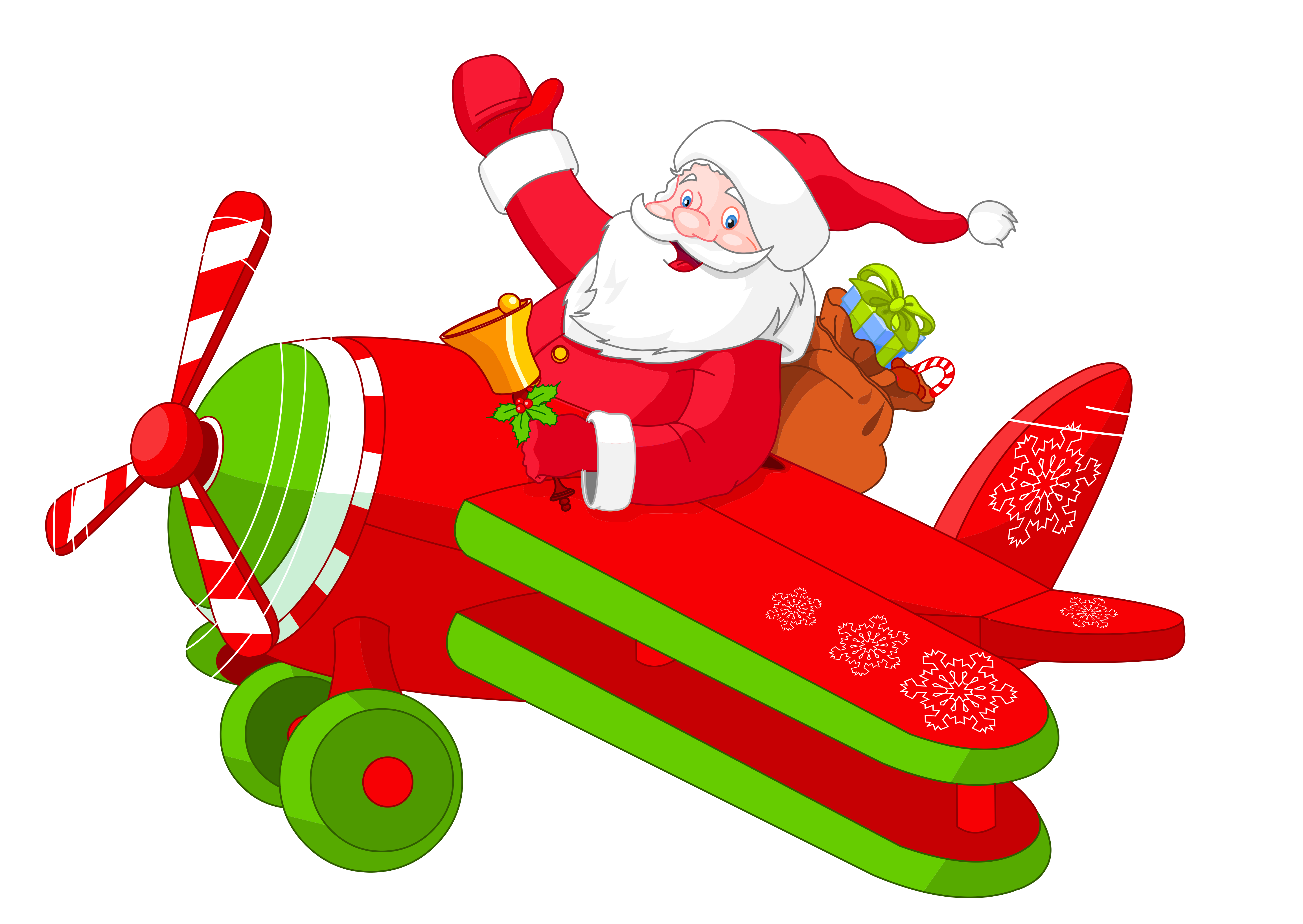 Santa clipart airplane. With png gallery yopriceville
