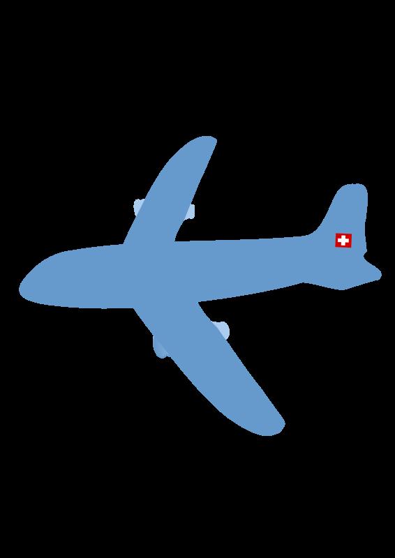 Clipart plane flight. Airplane free stock stockio