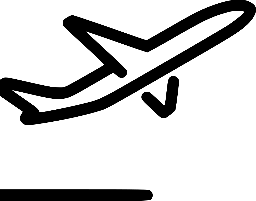 Airplane icon png. Flight departure airport svg
