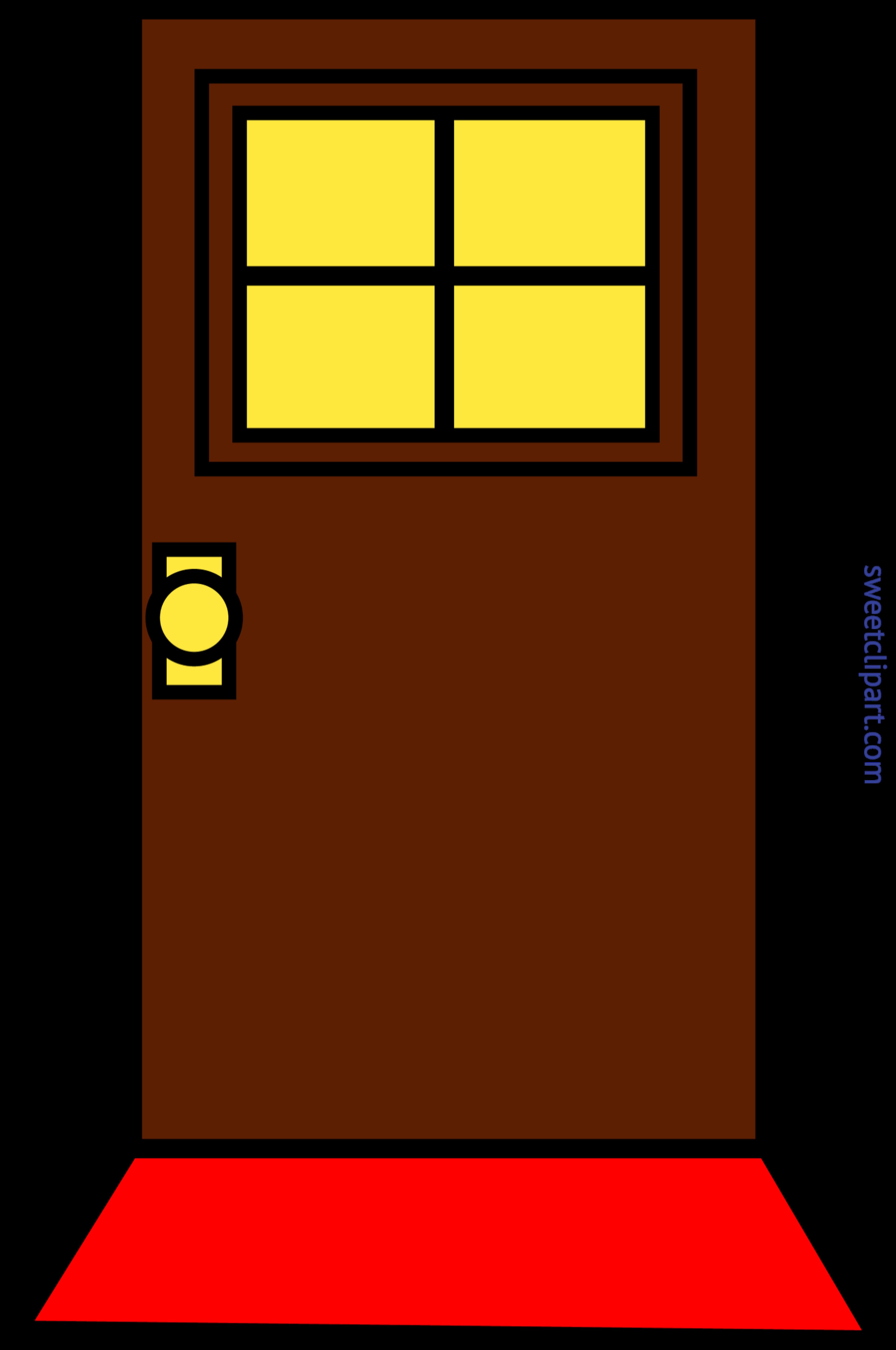 Clipart door orange door. Domestic simple brown clip