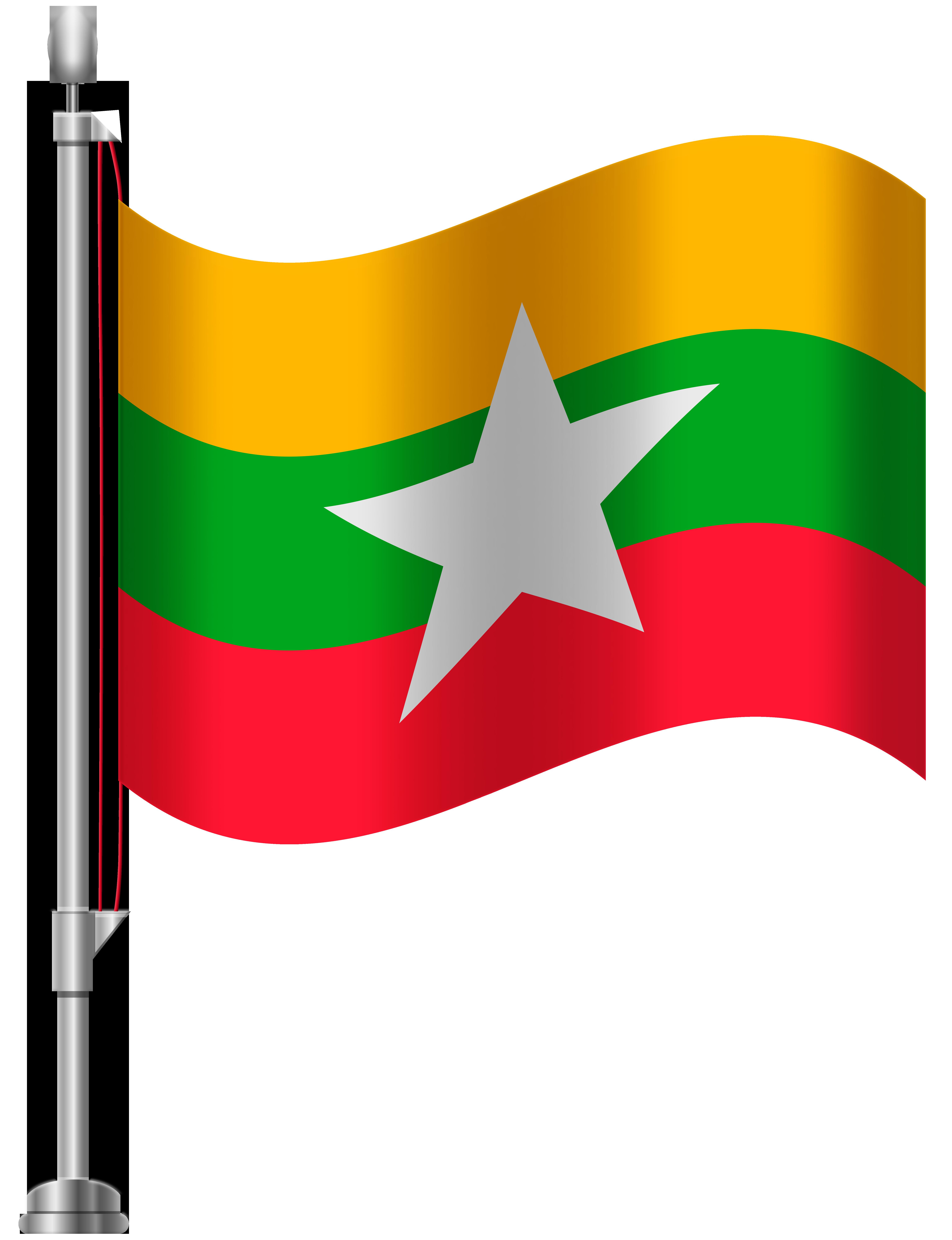 Clipart airplane flag. Myanmar png clip art