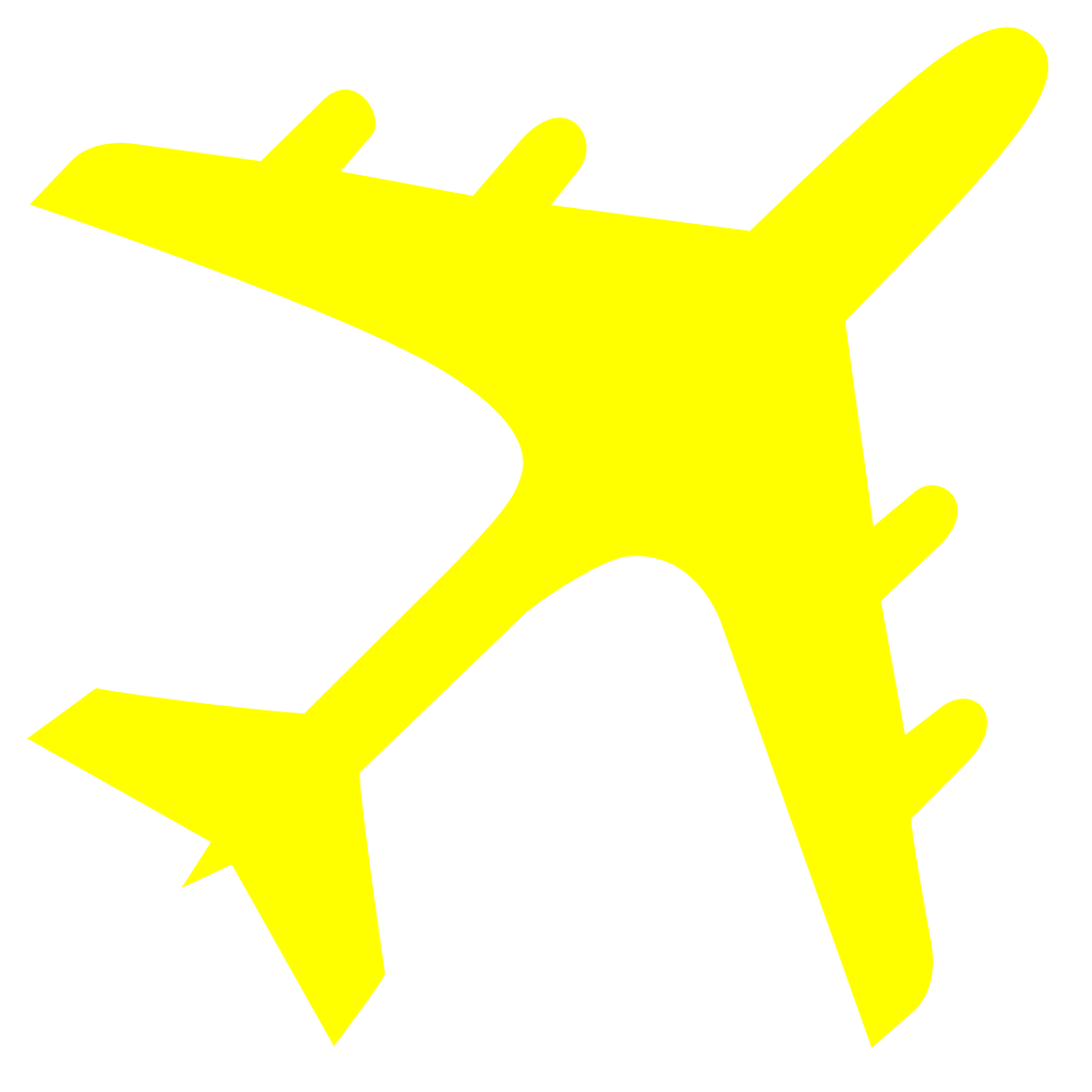 Plane clipart gold.  collection of yellow