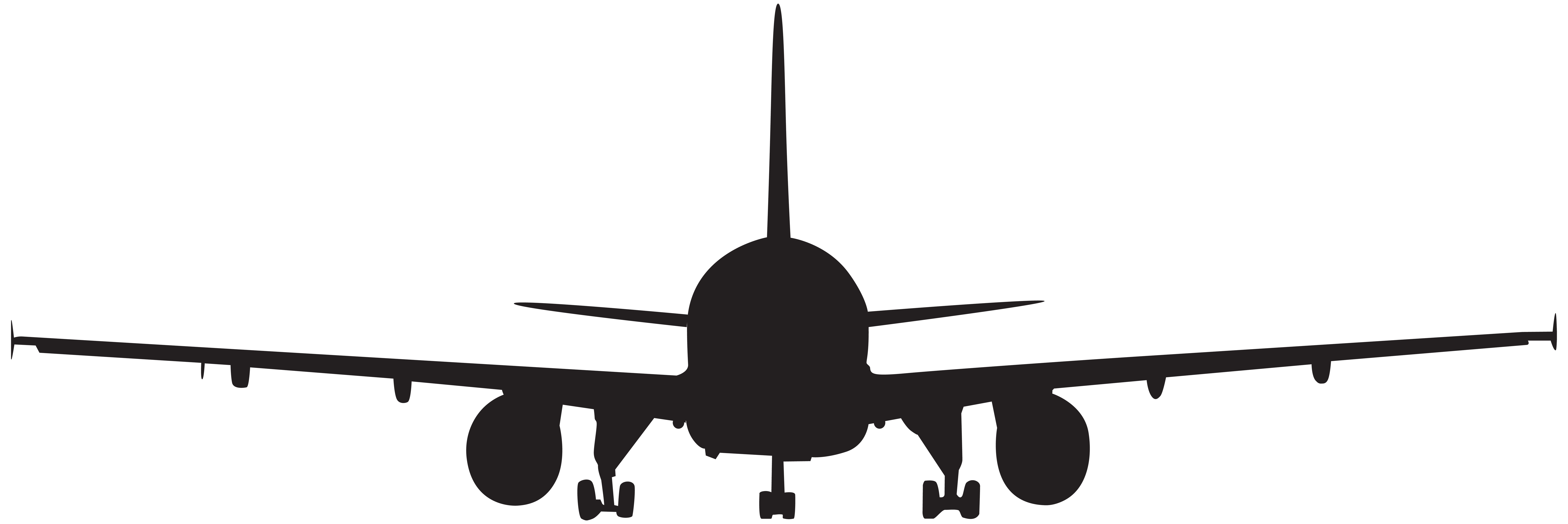 Airplane silhouette clip art. Plane clipart front