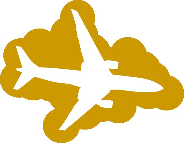 Plane clipart gold. Clip art at clker