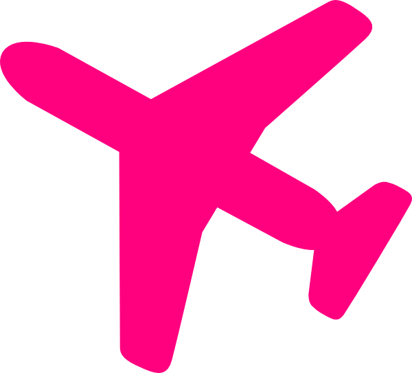 Dot clipart airplane. Pink clip art at