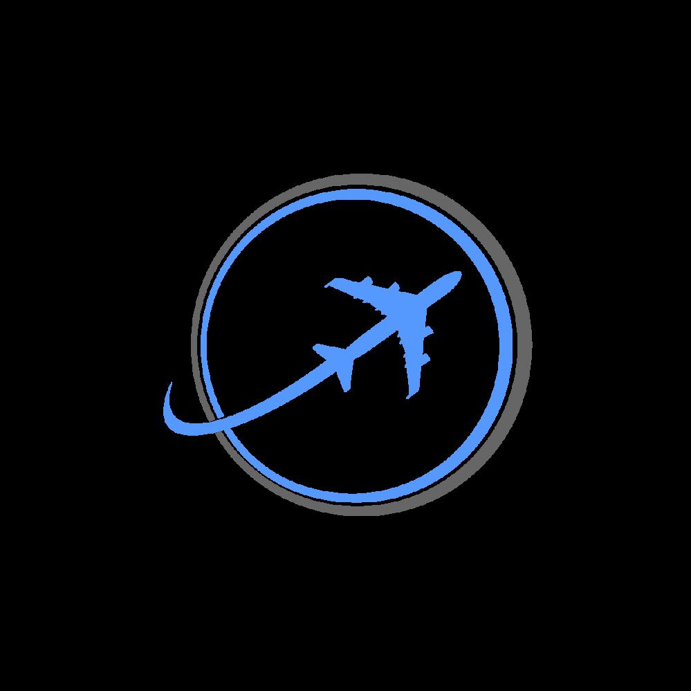Logos airplane travel design. Clipart plane logo