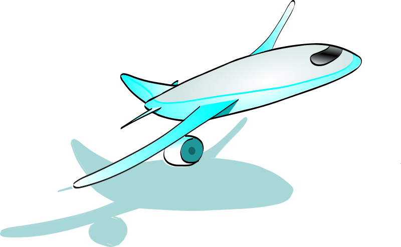 Plane taking off medium. Clipart airplane love
