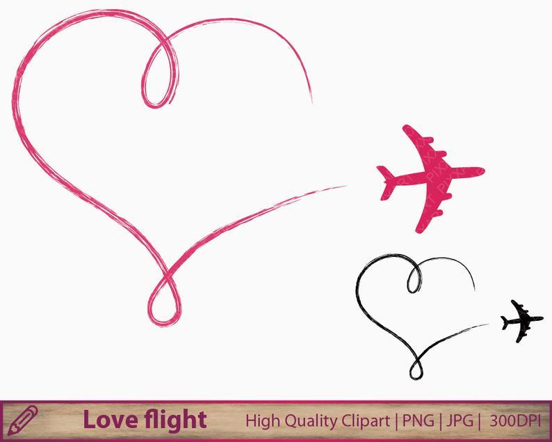 Plane clip art romantic. Clipart airplane love