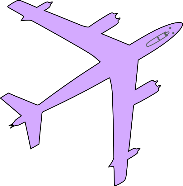Purple clipart airplane. Clip art at clker