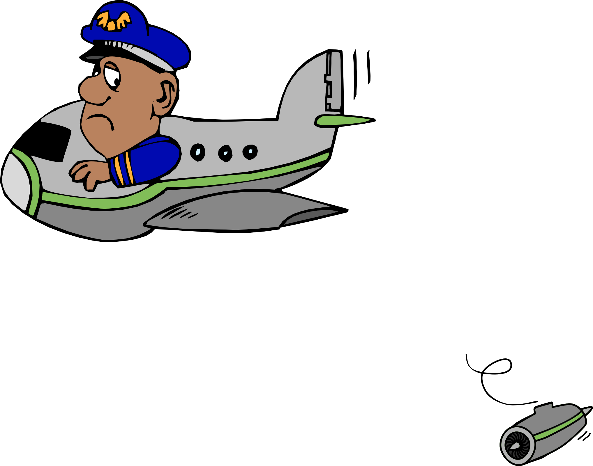 Ooops which just lost. Engine clipart airplane