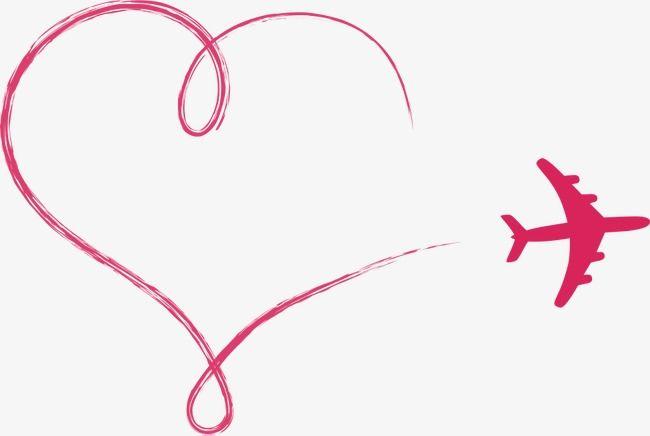 Clipart airplane love. Vector aircraft cartoon