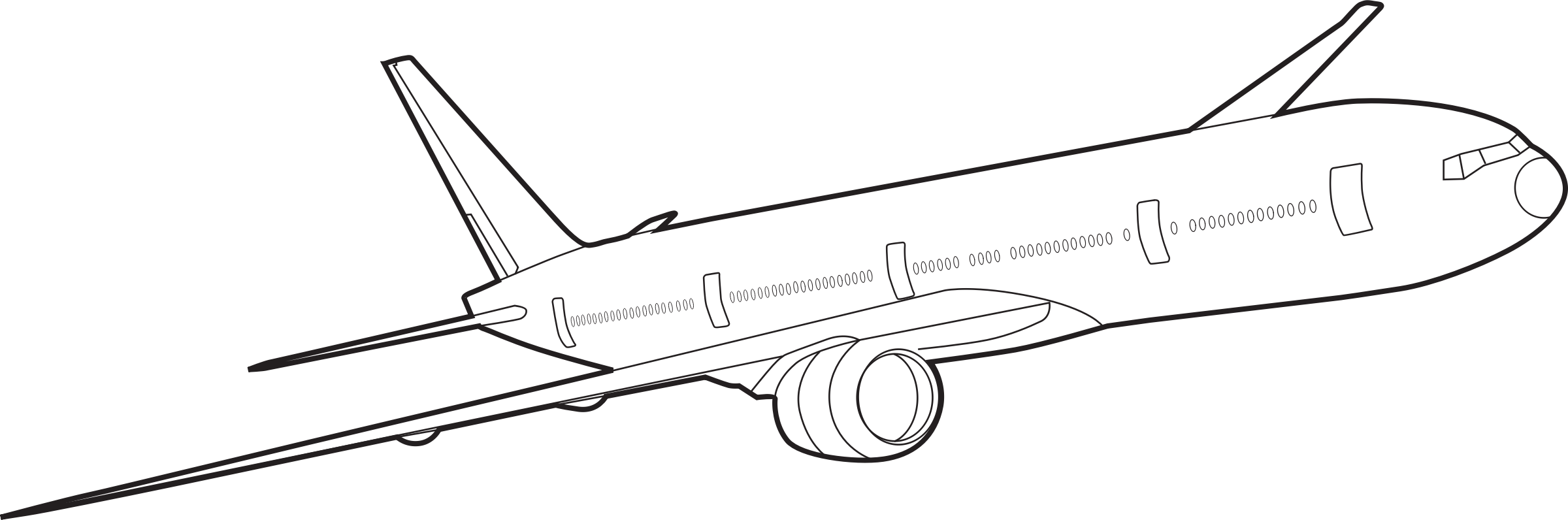 Plane outline drawing at. Pilot clipart sketch