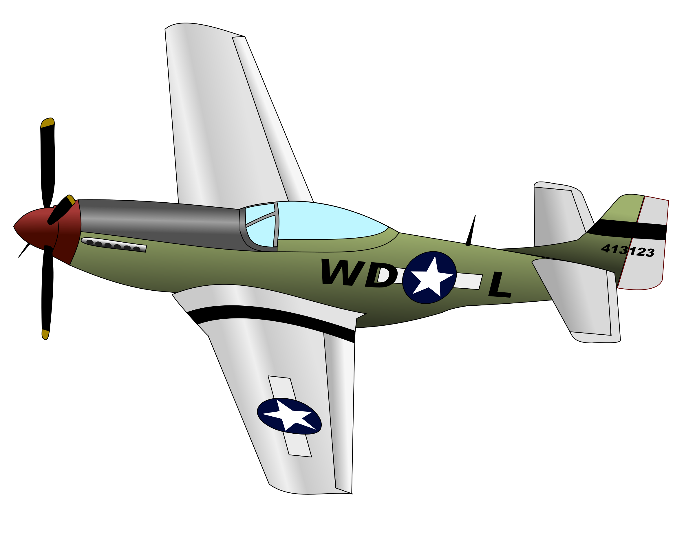 Pilot clipart airplane crash. P mustang big image