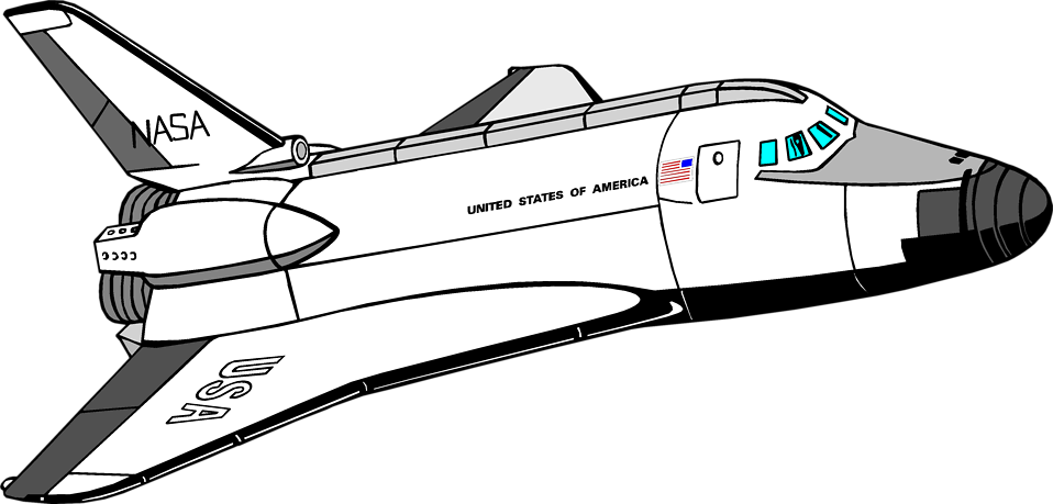 Space shuttle . Clipart rocket launching pad