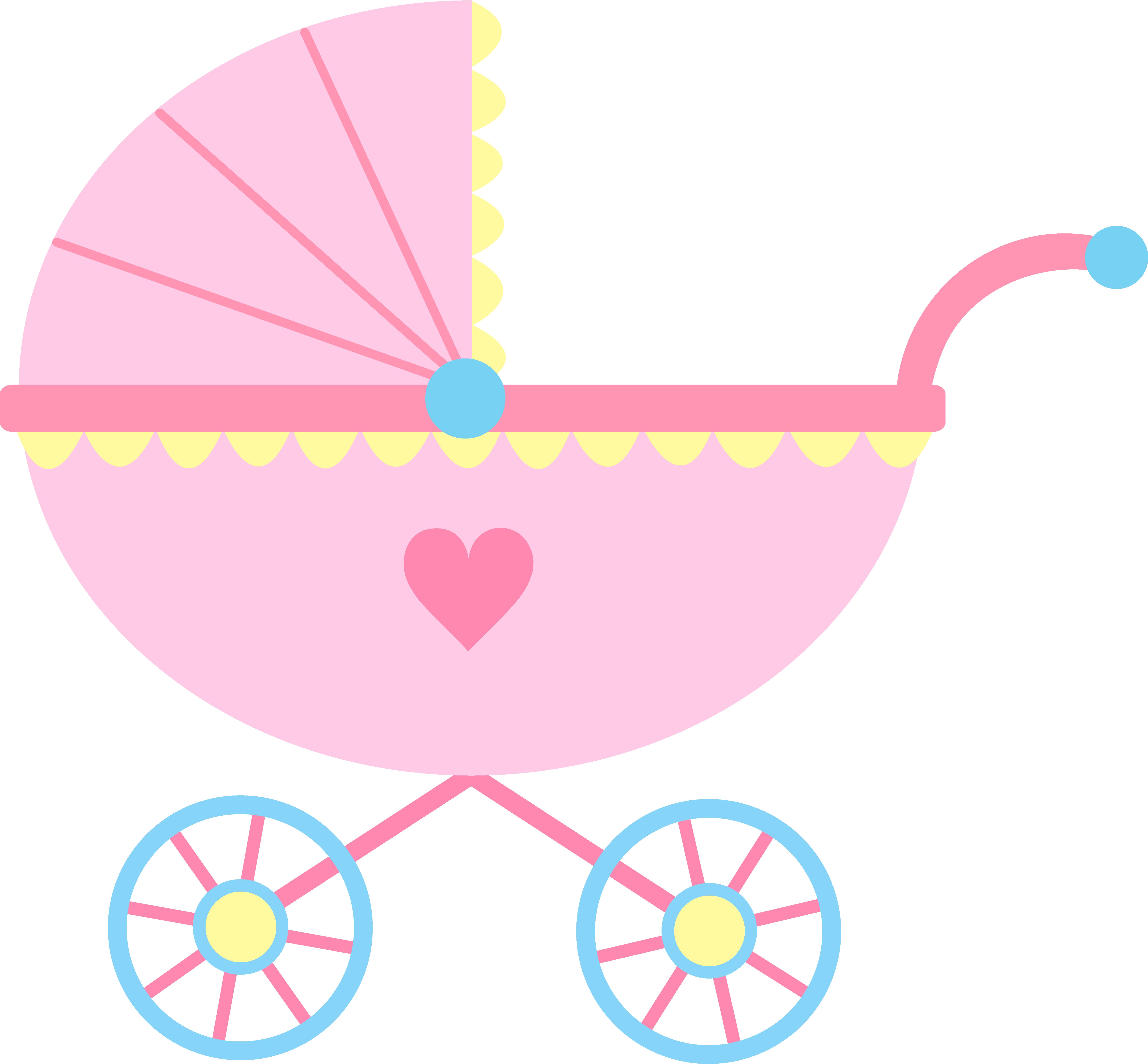 Pink carriage kim sun. Surprise clipart surprise baby shower