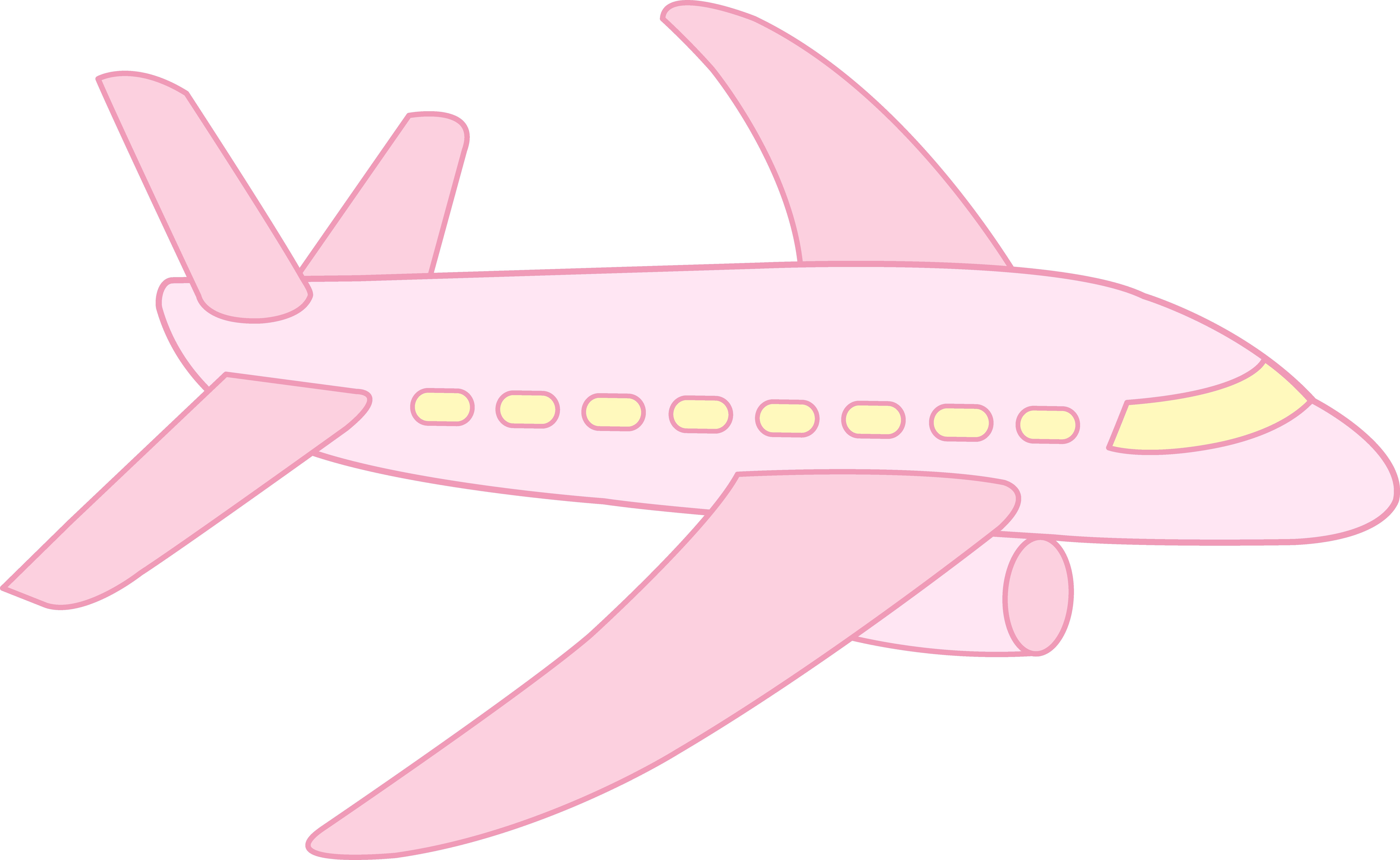 Cute airplane free clip. Clipart plane pink