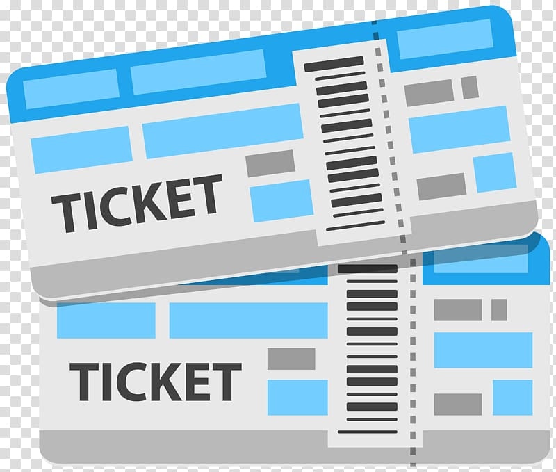 Two white and multicolored. Stamp clipart airplane ticket
