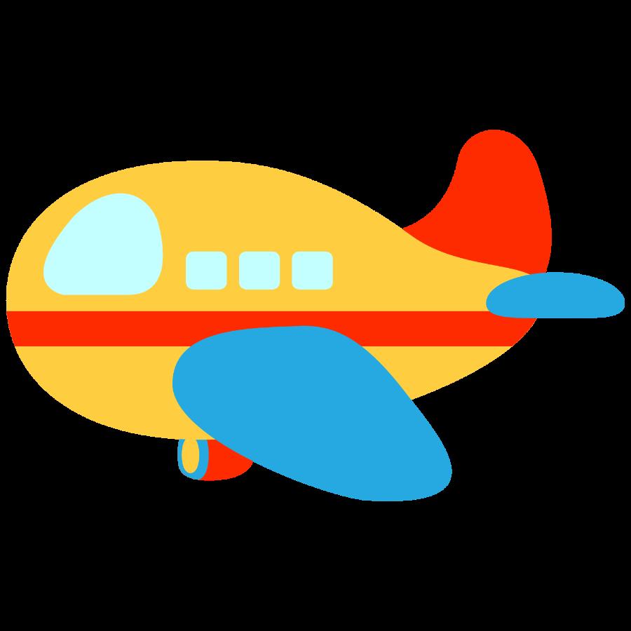 Clipart plane boat. Meios de transporte minus