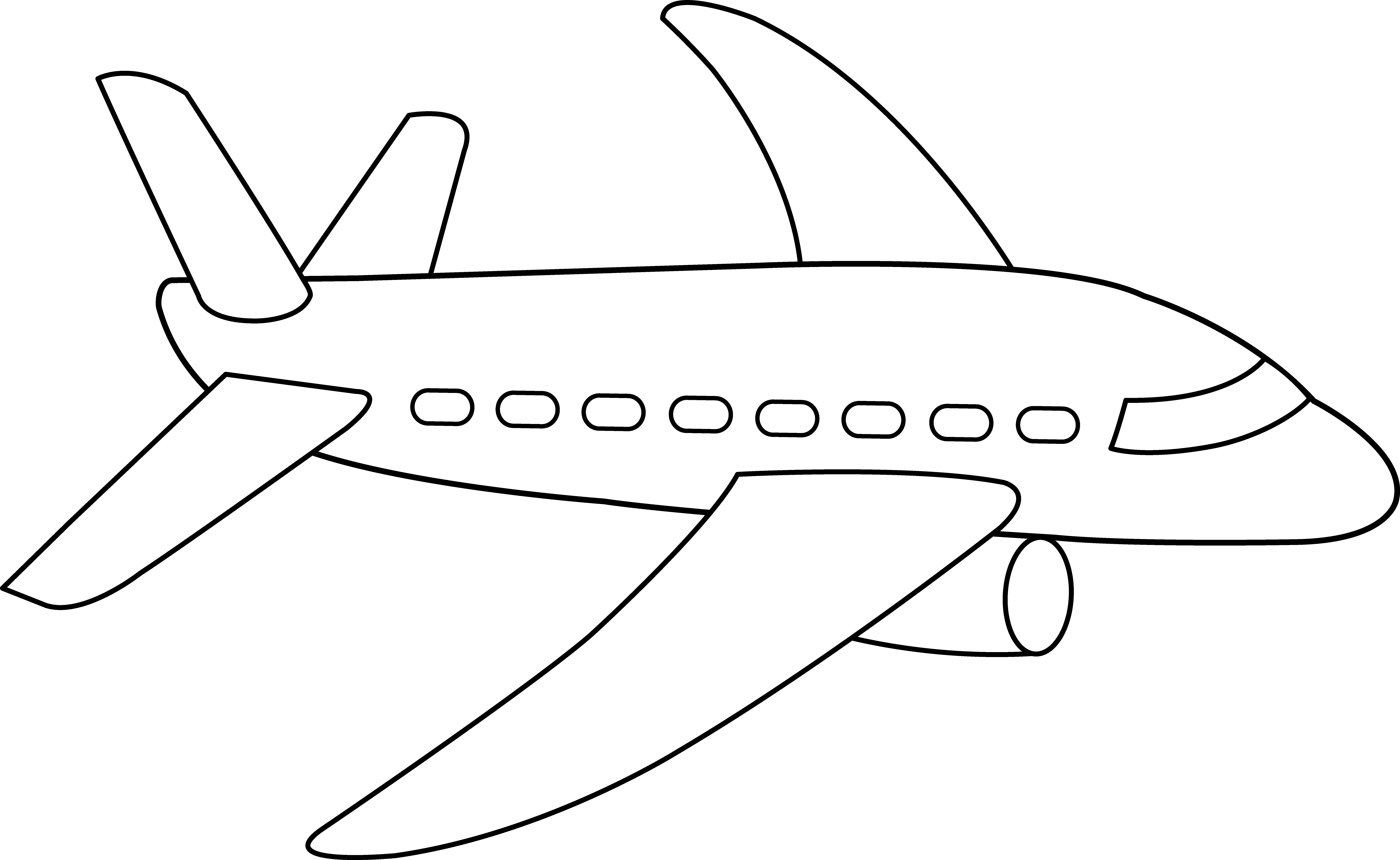 Airplane coloring page free. Plane clipart clip