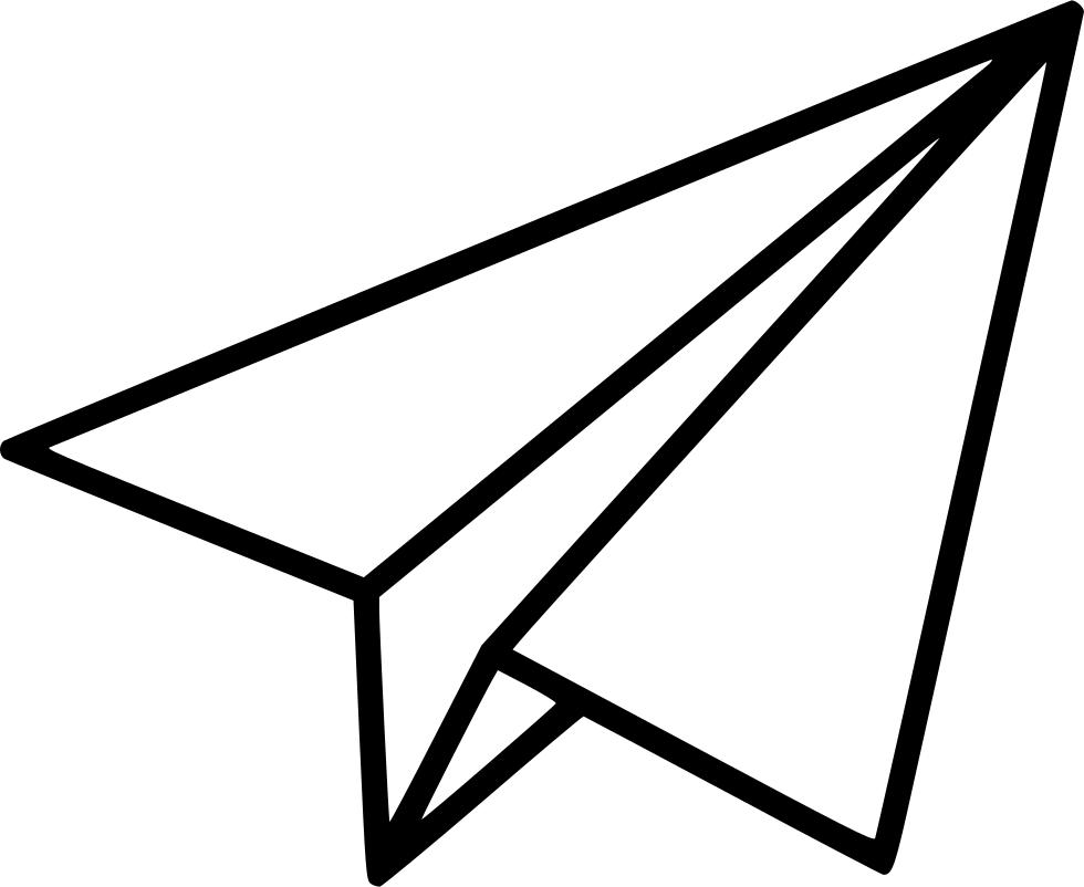 Clipart paper line paper. Black shape plane png