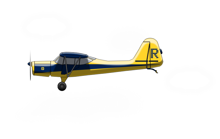 Plane side view