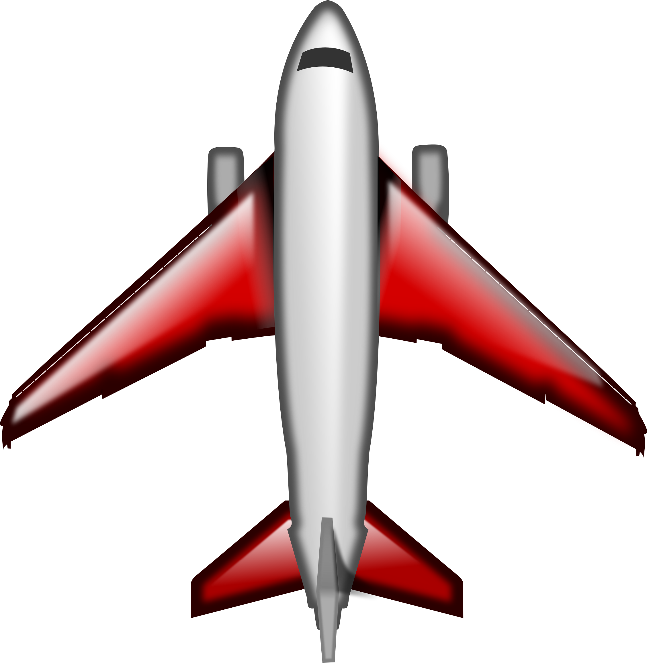 Plane red big image. Wing clipart airline wing