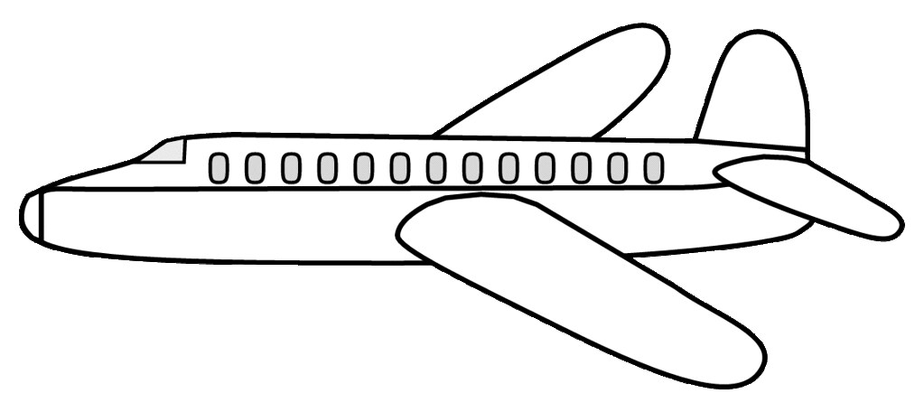 Clipart airplane sketch. Ex lge cm long