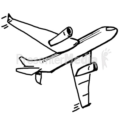 clipart airplane sketch