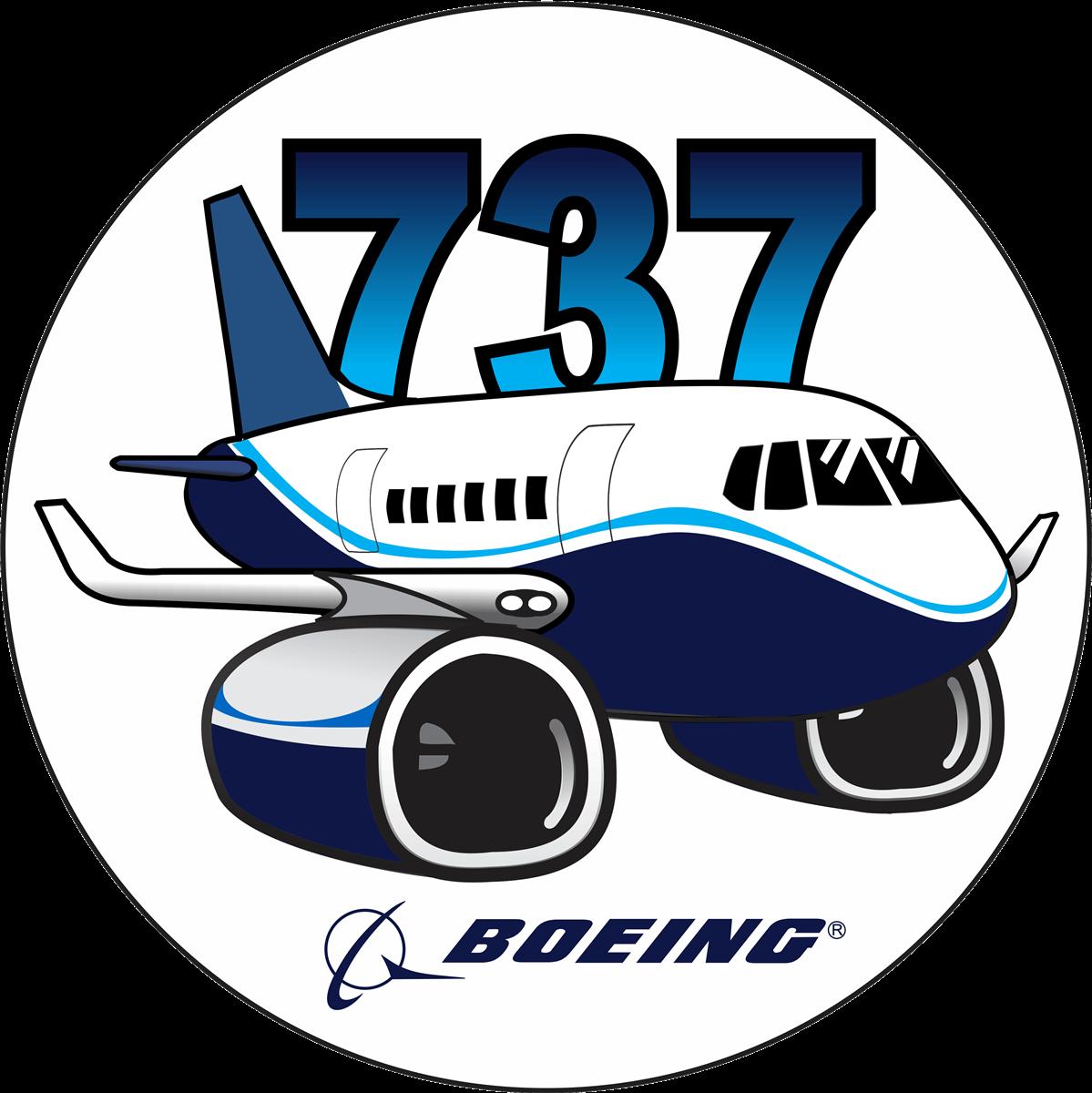 Transportation clipart airplane. Boeing sticker