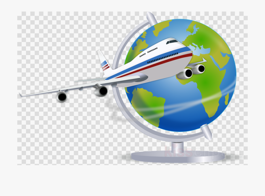 Airplane transparent image travel. Flying clipart vaction
