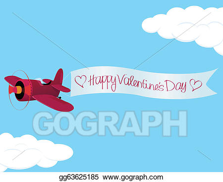 Clipart airplane valentine. Eps vector s day