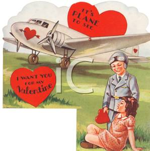 Clipart airplane valentine. An picture