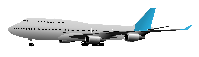 Aircraft transparent vector. Jet clipart aviation