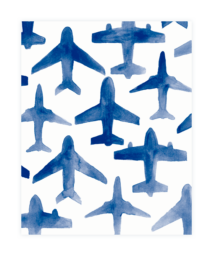 Watercolor print ideas pa. Trail clipart paper airplane