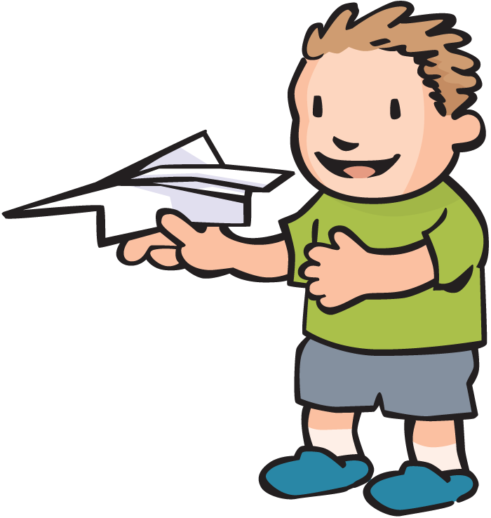 Image of paper airplane. Fly clipart simple
