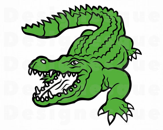 Crocodile clipart croccodile. Svg alligator files for