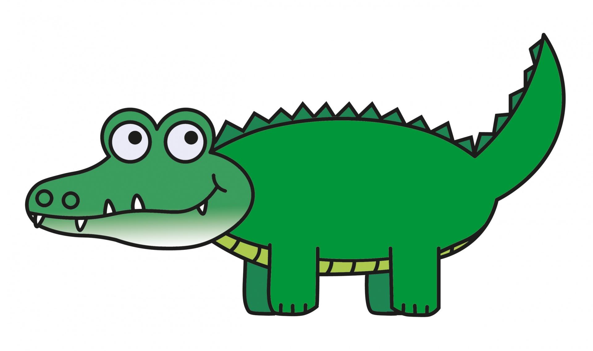 Clipart alligator. Cartoon clip art free