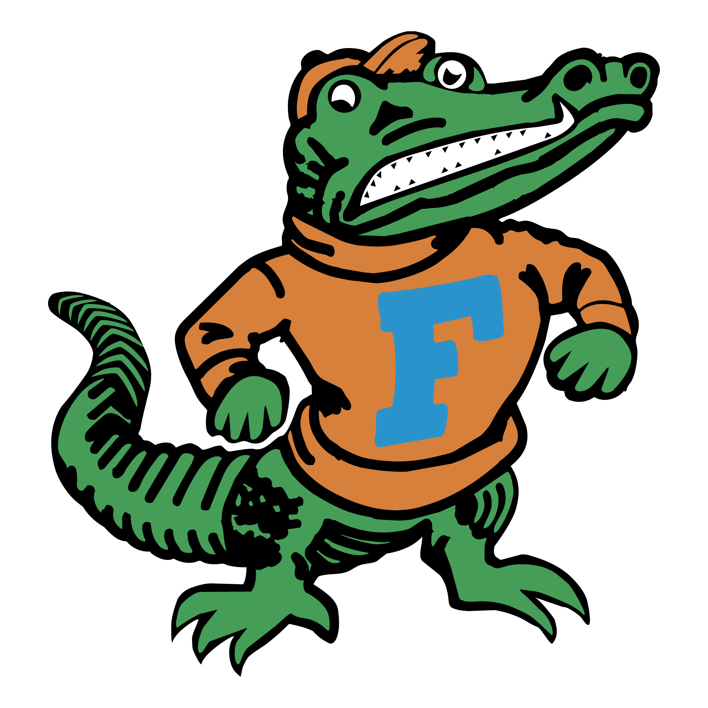 Florida gators logo png. Orange clipart gator
