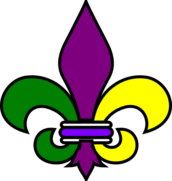 Name clipart printable. Saints fleur de lis