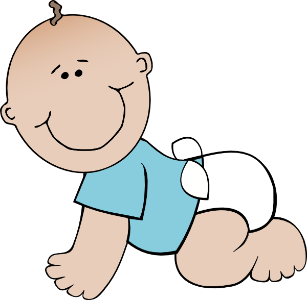 Crawling drawing at getdrawings. Infant clipart baby dummy