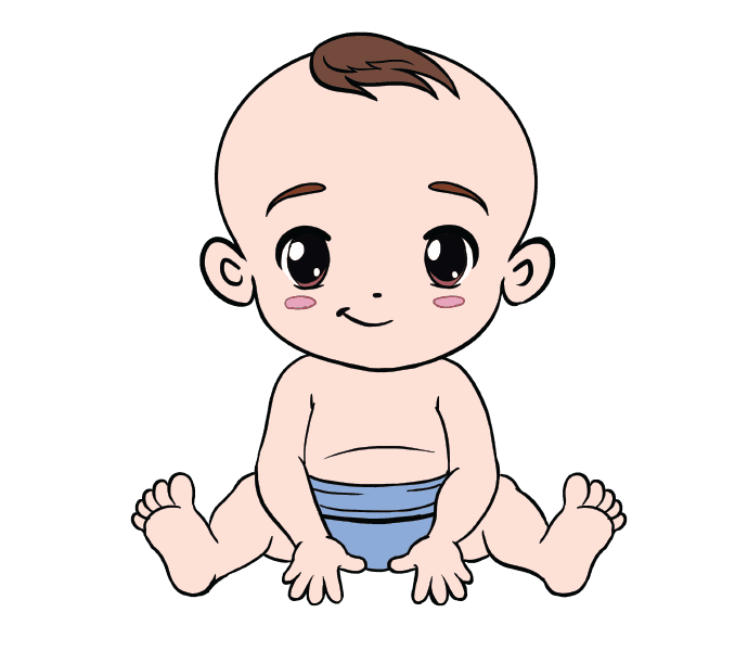Clipart person easy. Baby crawling drawing at